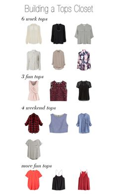 Building a Tops Closet: all the tops and blouses you need for a beautiful year-round wardrobe.