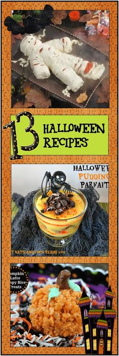 13 Pinterest Halloween Recipes  From desserts to main dishes, these pinterest Halloween recipes are sure to spook your party guests, but the best part is they are fun and delicious – or at least yummy sounding!