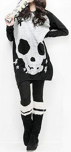 Misfits-Skull nouveau XL Pull en mailles