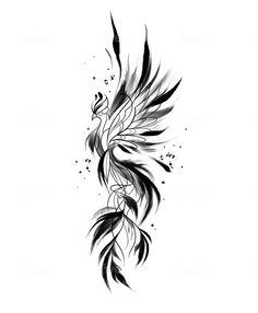 Simple Phoenix Tattoo, Phoenix Tattoo Feminine, Small Phoenix Tattoos, Phoenix Tattoo Design, Small Tattoos, Design My Own Tattoo, Phoenix Tattoo Arm, Design Tattoos, Arm Tattoo