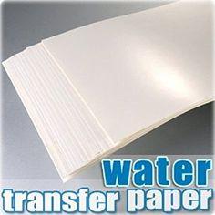 TPH Papier für Wassertransferdruck/ Abziehbilder, A4, für Tintenstrahldrucker, 20Blatt