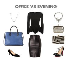 Office vs. Evening: Cool palette for cool undertones. Great on a curvy hour-glass body shape. Choose versatile clothing and accessories to suit the mood/occasion, dress code and the image you want to project. http://www.polyvore.com/office_vs_evening_womens_smart/set?id=145622317