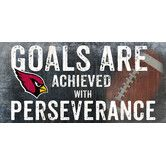 Found it at Wayfair - NFL Goals and Perseverance Graphic Art Plaque