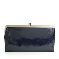 Hobo International - Navy Lauren Patent Leather Wallet