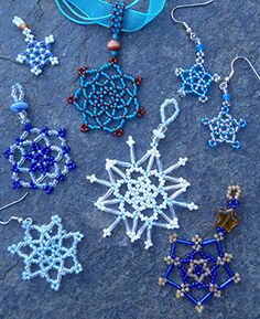 Beaded Snowflakes  inspiration