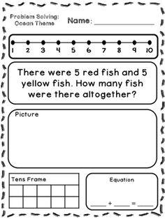 January Kindergarten Worksheets | Word problems, Kindergarten and ...