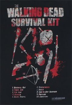 [ The Walking Dead How To Survive Survival Kit Men's Black T-shirt ] has just appeared on www.ShirtRater.com!
