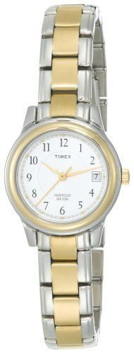 Timex Women's Fashion Two-Tone Bracelet #T25771 Timex. $40.91. Polished Finish. Beautiful two-tone case and bracelet. Date window at three o'clock. Indiglo® Night-Light