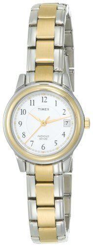 Timex Women's Fashion Two-Tone Bracelet #T25771 Timex. $40.91. Polished Finish. Beautiful two-tone case and bracelet. Date window at three o'clock. Indiglo® Night-Light