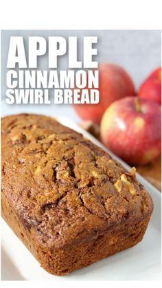 Apple Dessert Recipes, Jam Recipes, Apple Recipes, Easy Desserts, Baking Recipes, Bread Recipes, Muffin Recipes, Cinnamon Swirl Bread, Cinnamon Apples