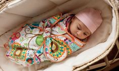 How to make a swaddle blanket  Know any newborns? This swaddling blanket can be made with a beautiful fabric of your choice and will be a useful present lizkewish