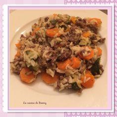 Riz aux légumes et à la viande hachée (Cookeo) - La cuisine de Boomy