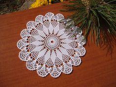 "Crochet Round Doily, Houseware, Crochet Doily for Sale, Crochet Centerpiece, Table Decoration, Crochet White Table Decorative Cover .Click ""Like"" Find more patterns on https://www.etsy.com/shop/Patternstriedandtrue"