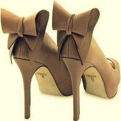 Brown Leather High Heels Shoes