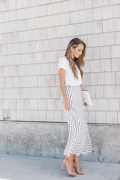 Merrick's Art // Style + Sewing for the Everyday Girl : Dressed Up/Dressed Down: Striped Wrap Maxi Skirt
