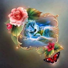 She looks sad Blue Roses Wallpaper, Wolf Wallpaper, Butterfly Spirit Animal, Butterfly Art, Wolf Images, Wolf Pictures, American Indian Tattoos, Native American Art, Wolf Dreamcatcher