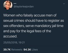 Right so then people would fake rape accusations (even though that doesn't happen often) so most rape accusations would be true and idiots wouldn't be able to say that it was just for attention Anti Feminist, Accusations, Faith In Humanity, Real Talk, Dankest Memes, Just In Case, Facts, Thoughts, Sayings