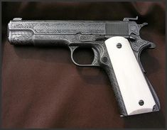 Colt Model 1911 Ace .22lr Pistol  Dennis Reigel Gun Engraving