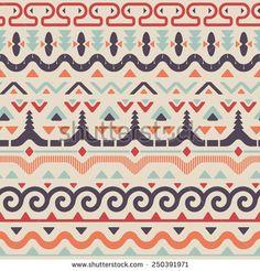 Vector Tribal Ethnic Seamless Pattern