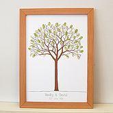 Personalised Thumbprint Tree