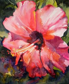 hibiscus+watercolor+paintings | 16x13 25 watercolor on italia 140 soft press paper drawn yesterday and ...