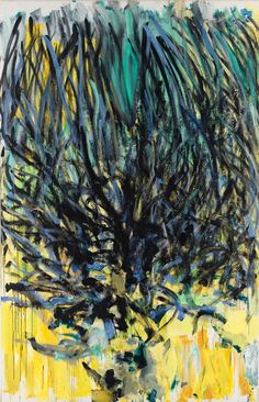 """""""Tilleul,"""" 1978, Joan Mitchell. Oil on canvas; 110¼ x 70⅞ inches (280 x 180 cm). Collection of the Joan Mitchell Foundation, New York."""