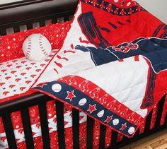 Boston Red Sox Baby Crib Bedding Set at www.SportsFansPlus.com Baby Crib Bedding Sets, Crib Sets, Nursery Bedding, Teen Bedding, Baseball Nursery, Baseball Bed, Red Sox Baseball, Baseball Stuff, Sports Baseball