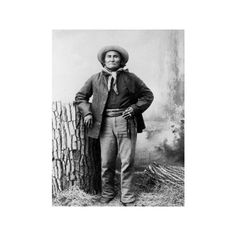 7d071859eafd Portrait of Apache Leader Geronimo Photographic Wall Art Print (375 NOK) ❤  liked on Polyvore featuring home