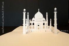 Taj Mahal PopUp Card 180 degrees ITEM 12093 by PetrinaCaseStudio