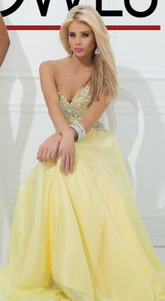 Strapless chiffon gown with a sweetheart neckline by Tony Bowls Evenings