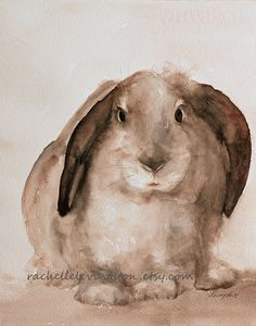 Bunny painting. Available in many sizes. $25.00 and up, depending on size.