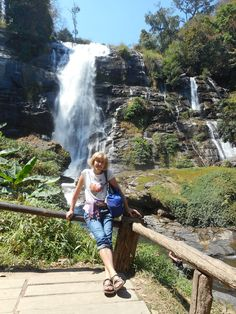Wachirathan Waterfall in Doi Inthanon National Park.