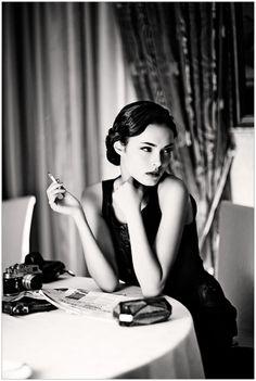 Beautiful b&w portrait shot. Photographer: Nikkola Borrisov