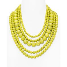 Baublebar Globe Strands Layered Necklace, 18 ($41) ❤ liked on Polyvore featuring jewelry, necklaces, neon yellow, double layer necklace, strand necklace, neon yellow necklace, layered jewelry and multi layer necklace