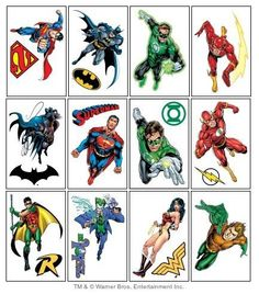 Tattoo on pinterest 58 pins on superman tattoos zombie for Superhero temporary tattoos
