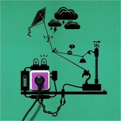 Adesivos criativos e sustentáveis. Veja outros neste link: http://ale.pt/PfZ3dH