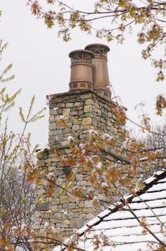 Copper chimney pots  http://www.architecturalheritage.com/Copper-Chimney-Pots_750_prd.htm