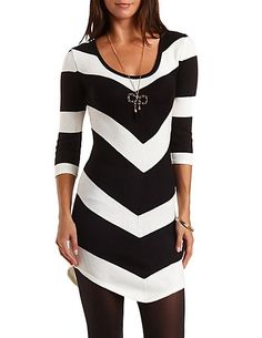Chevron Stripe Sweater Dress: Charlotte Russe - http://AmericasMall.com/categories/juniors-teens.html