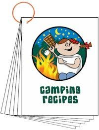 Camping Recipe Download. Nine-page download with recipes for camping success. Buy us a cup of coffee. We stay up late thinking this stuff up ;). Free printable available at MakingFriends.com