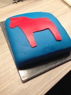 Zweedse taart Dalarna paardje