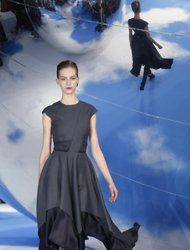 A model wears a creation by designer Raf Simons for Christian Dior's Ready to Wear Fall-Winter 2013-2014 fashion collection, presented, Thursday, March.1, 2013 in Paris. (AP Photo/Jacques Brinon)