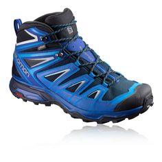 Salomon Herren Blau X Ultra Mid 3 GTX Outdoor Stiefel Wanderstiefel Schuhe