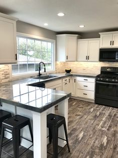 City House Kitchen – The Marshall Remodel Kitchen Room Design, Kitchen Redo, Modern Kitchen Design, Home Decor Kitchen, Interior Design Kitchen, New Kitchen, Home Kitchens, City Kitchen Ideas, Small House Kitchen Ideas
