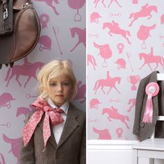 Why wasn't this wallpaper around when I was young? Gymkhana wallpaper by Rockett St. George
