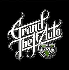 GTA 5 Logo Redesign by Martin Schmetzer Calligraphy Words, Typography Letters, Typography Design, Logo Design, Lettering, Brand Design, Web Design, Graphic Design, 5 Logo
