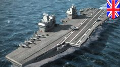 New British aircraft carrier HMS Queen Elizabeth to be the world's second largest carrier. (YouTube)