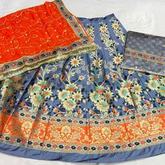 Banarasi Suit with Half Pure Odna #Rajputisuit #suit #rajputi #poshak #cottonsuit #poshak #rajputidress #dress Banarasi Suit, Rajputi Dress, Cotton Suit, Dress Ideas, Pure Products, Suits, Photo And Video, Dresses, Vestidos