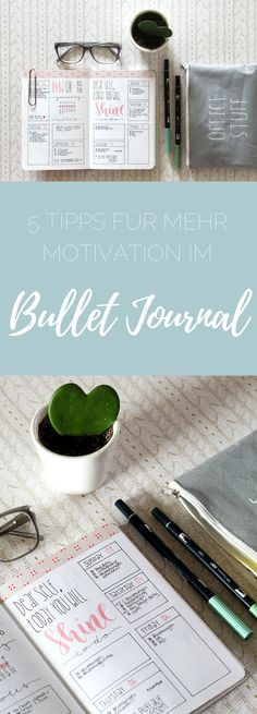 bullet journal 5 tips for more motivation for the Bullet Journal - easy to brush - simple hand lettering for everyone!