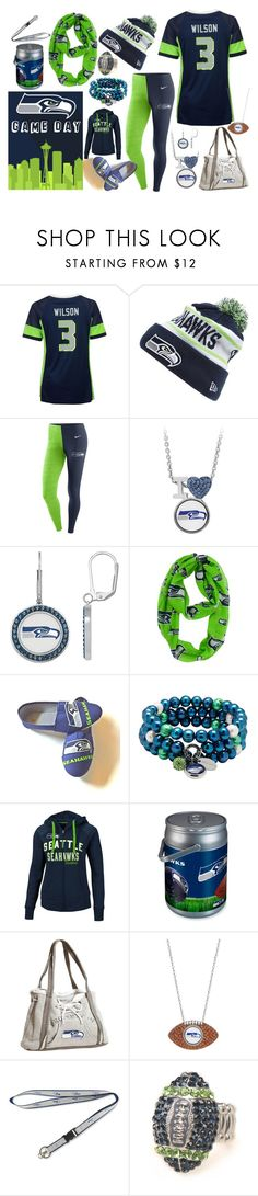 Seahawks Game Day Set by iconexpressions on Polyvore featuring Majestic, NIKE, G-III, Littlearth, Forever Collectibles, aminco and Picnic Time #Seahawks #Football #sports #12s
