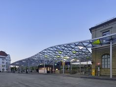 Completed in 2014 in Esslingen, Germany. Images by Zooey Braun   . Werner Sobek was the winner of a competition for the redesign of Esslingen`s bus station. The central bus station of Esslingen was architecturally...